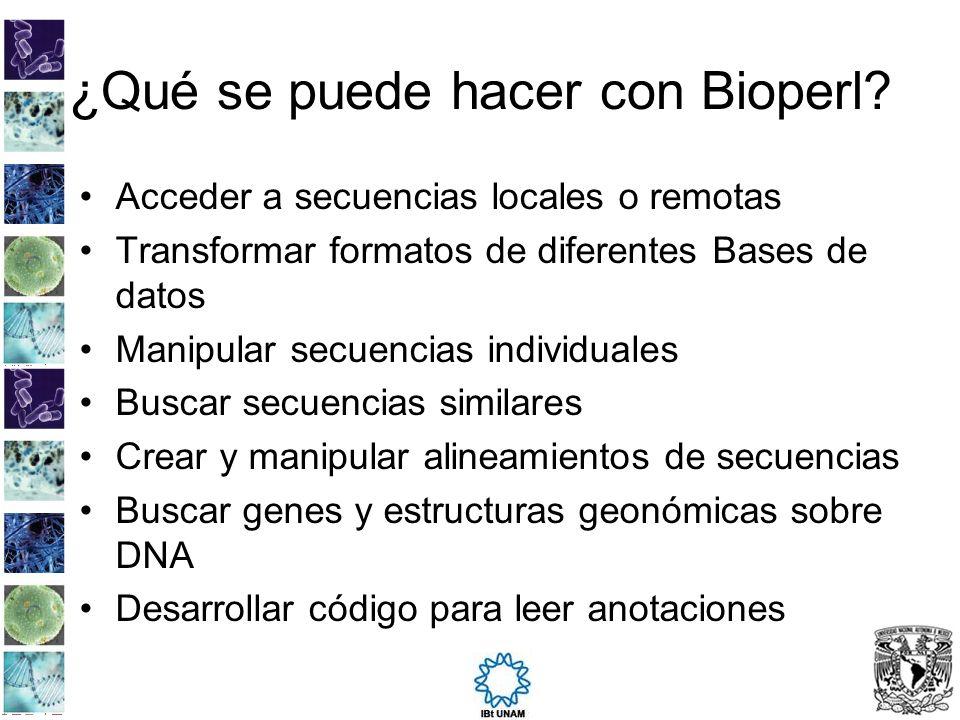 ¿Qué se puede hacer con Bioperl