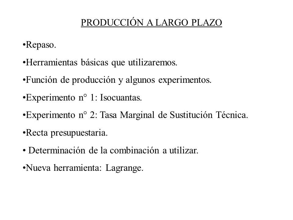 PRODUCCIÓN A LARGO PLAZO