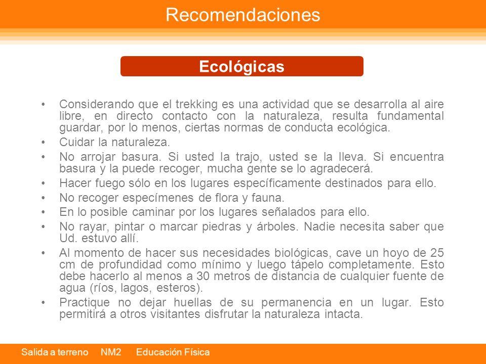 Recomendaciones Ecológicas