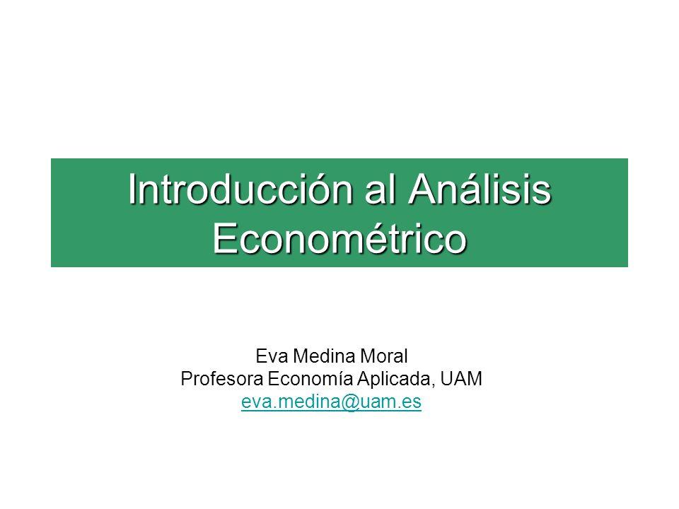 Introducción al Análisis Econométrico