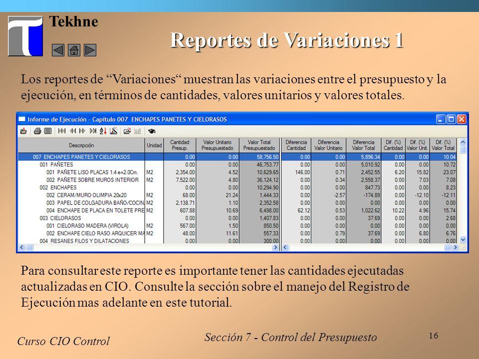 Reportes de Variaciones 1