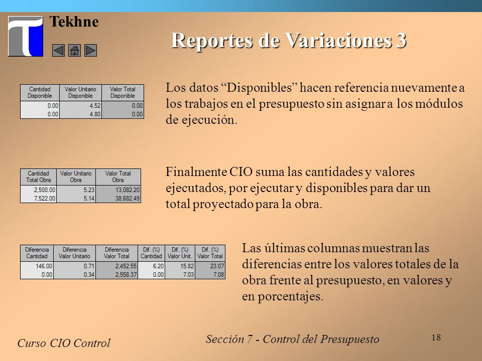 Reportes de Variaciones 3