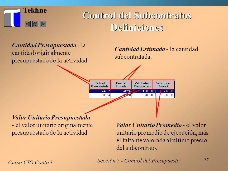 Control del Subcontratos