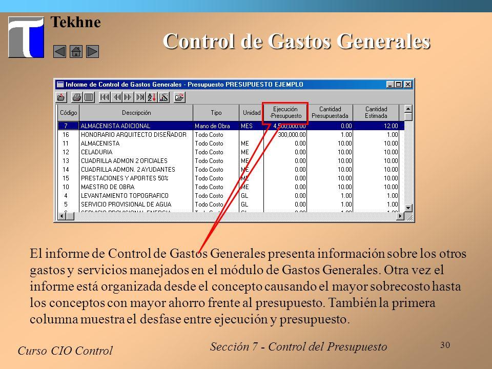 Control de Gastos Generales