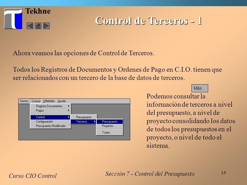 Control de Terceros - 1 Tekhne