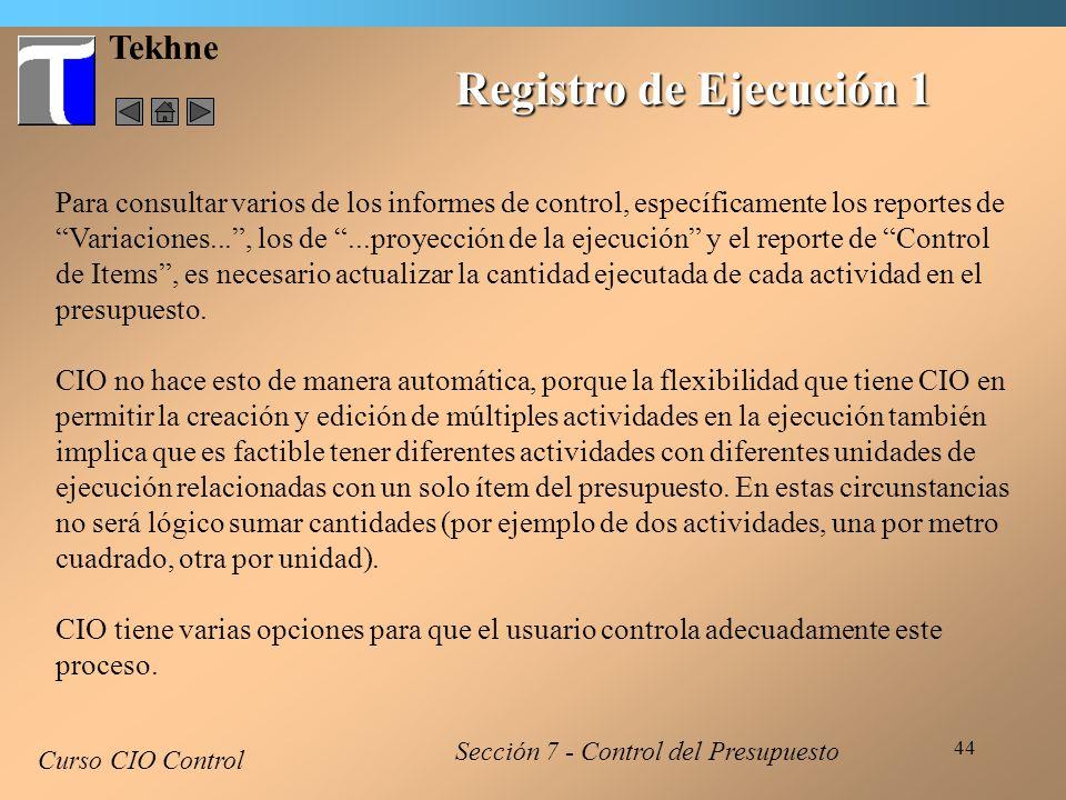 Registro de Ejecución 1 Tekhne