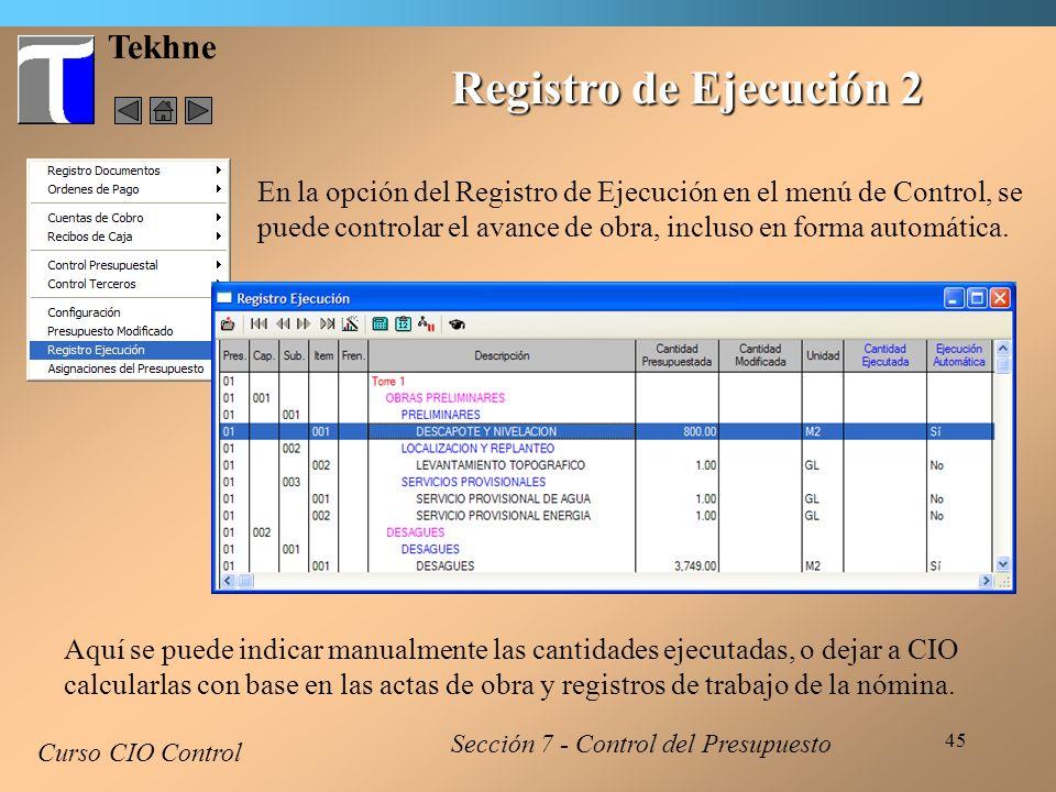 Registro de Ejecución 2 Tekhne