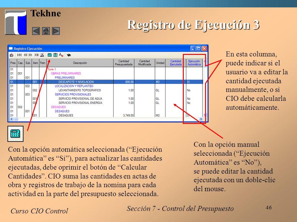 Registro de Ejecución 3 Tekhne