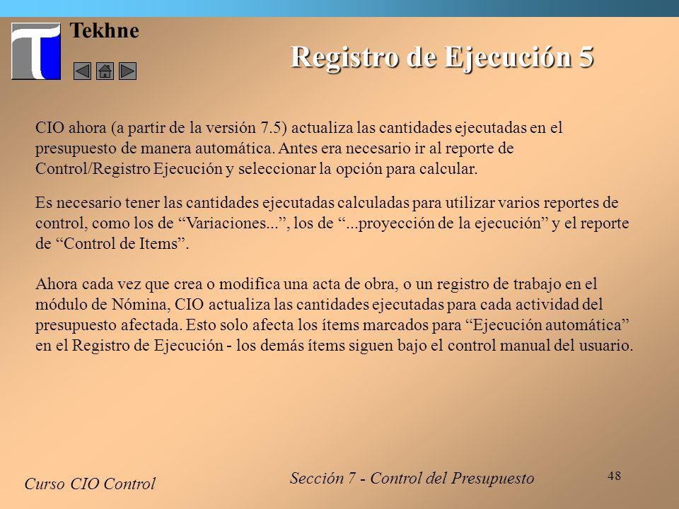 Registro de Ejecución 5 Tekhne