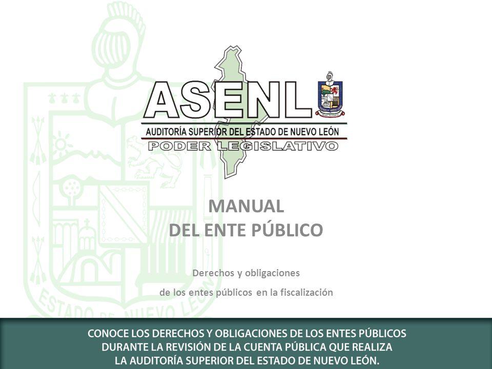 Derechos y obligaciones de los entes públicos en la fiscalización