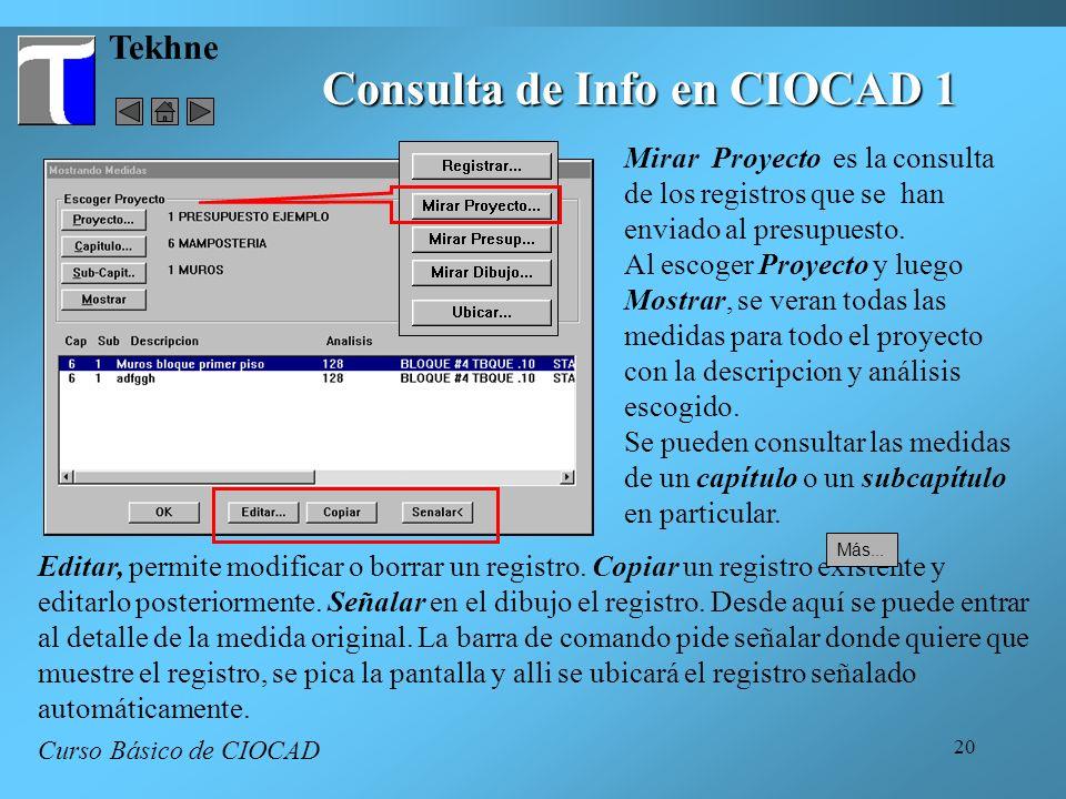 Consulta de Info en CIOCAD 1