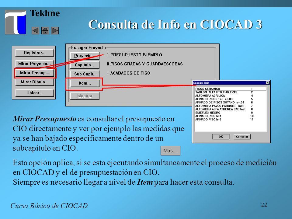 Consulta de Info en CIOCAD 3