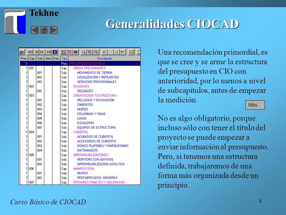 Generalidades CIOCAD Tekhne