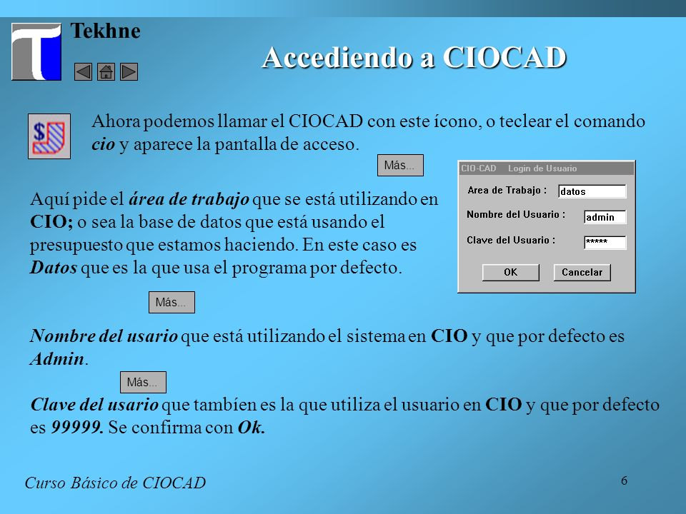 Accediendo a CIOCAD Tekhne