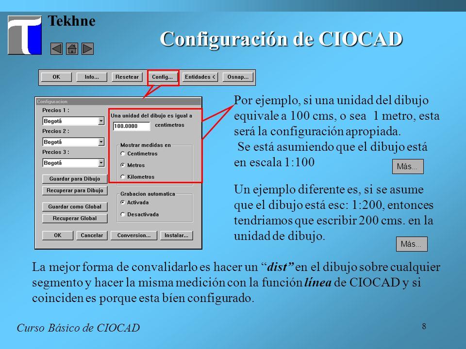 Configuración de CIOCAD