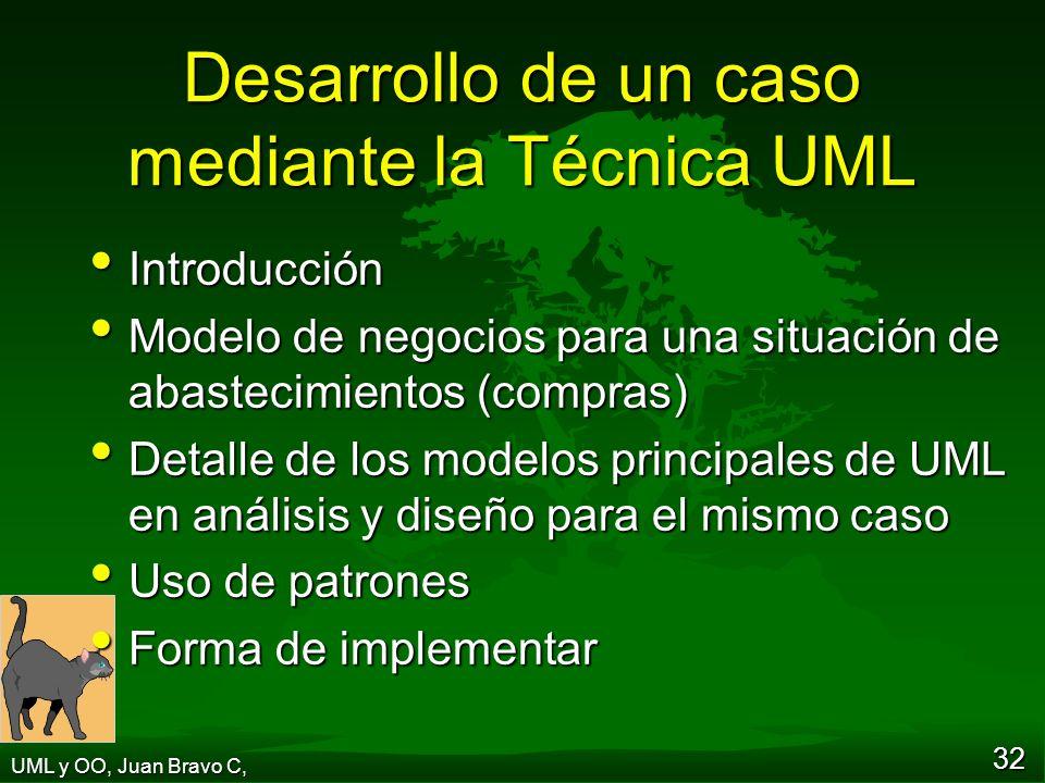 Desarrollo de un caso mediante la Técnica UML