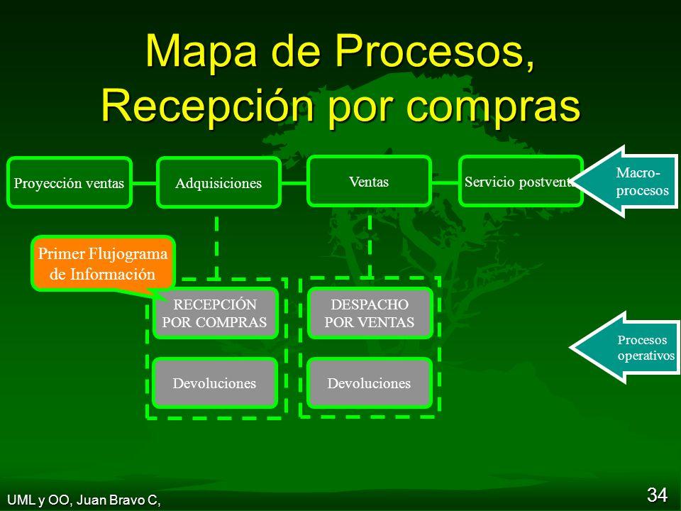 Mapa de Procesos, Recepción por compras
