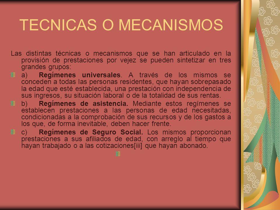 TECNICAS O MECANISMOS