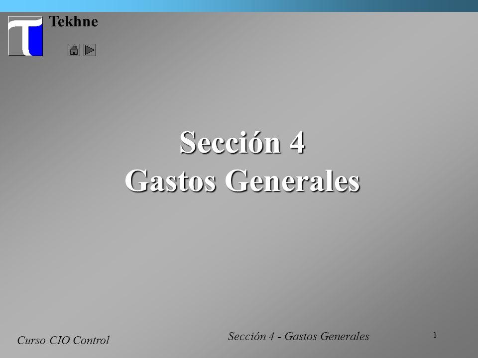Sección 4 Gastos Generales