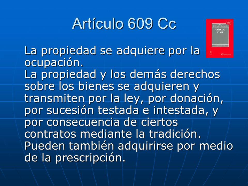 Artículo 609 Cc