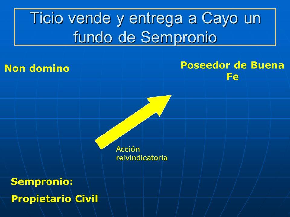 Ticio vende y entrega a Cayo un fundo de Sempronio