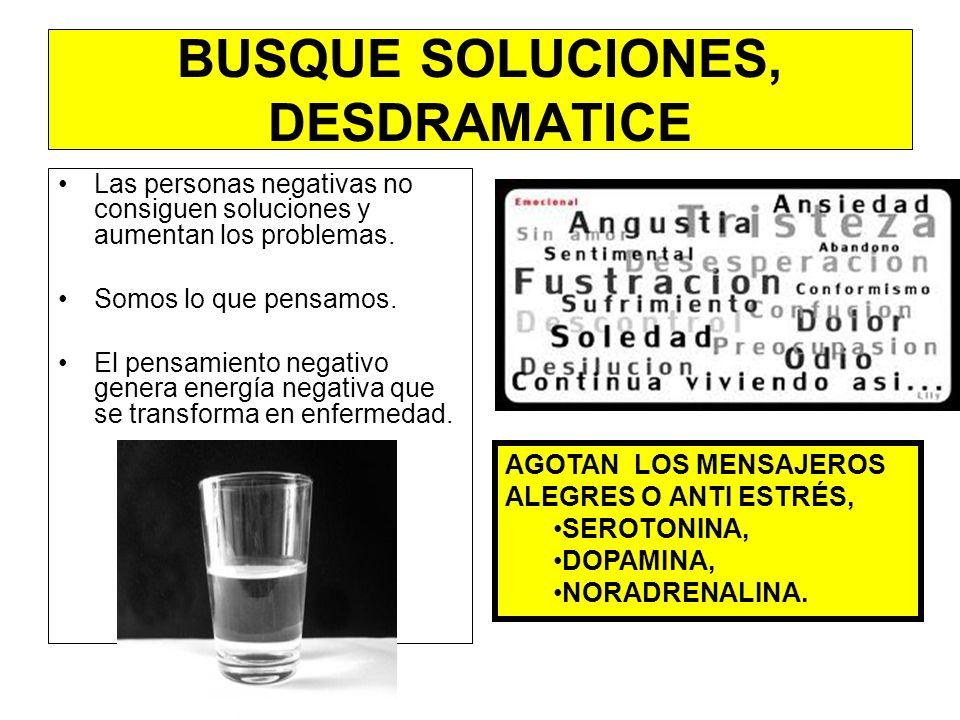 BUSQUE SOLUCIONES, DESDRAMATICE