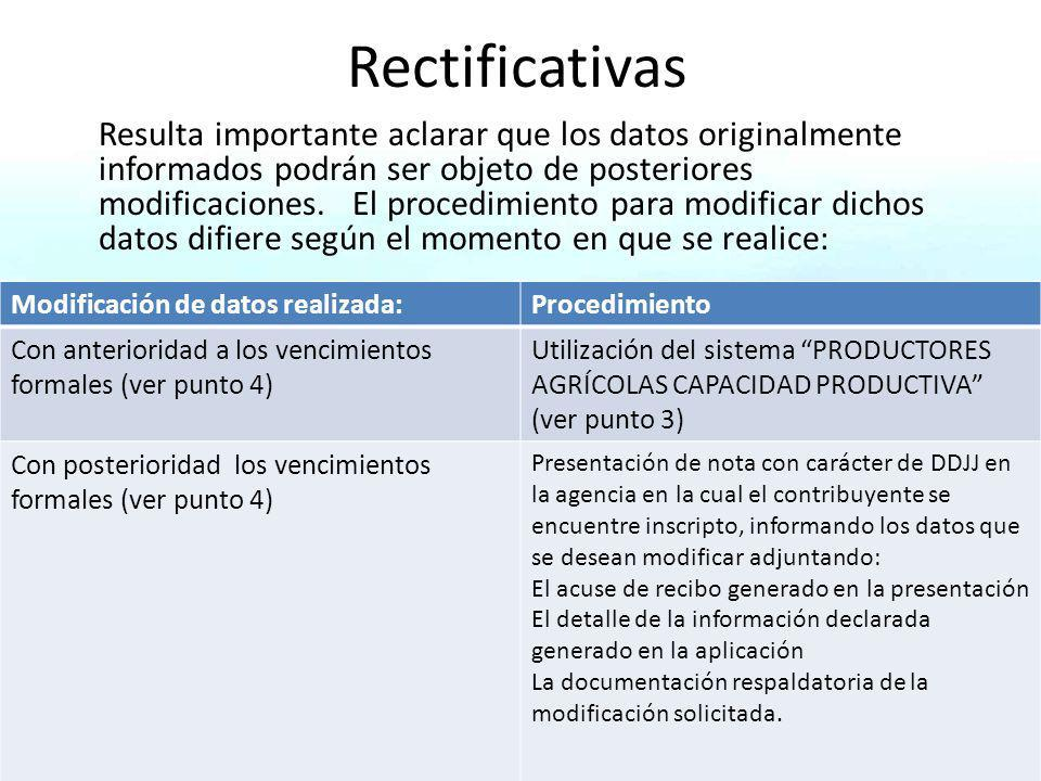 Rectificativas