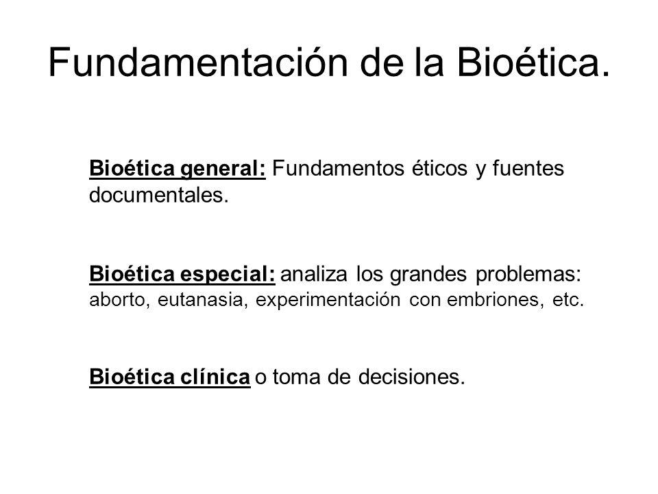 Fundamentación de la Bioética.