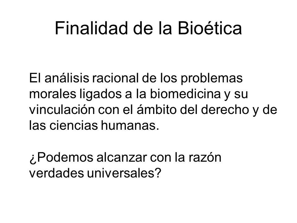 Finalidad de la Bioética