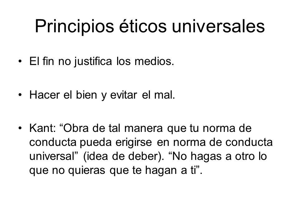 Principios éticos universales