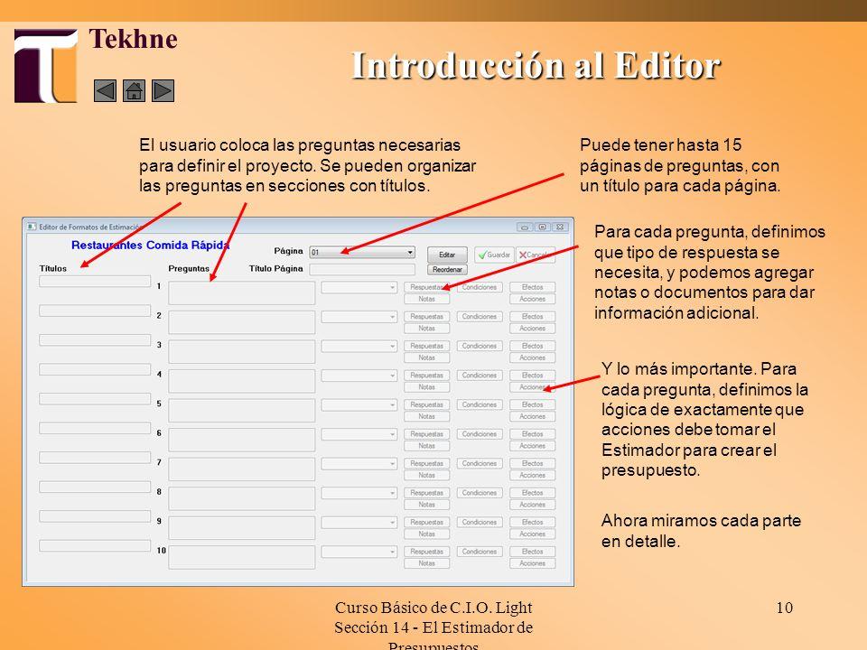 Introducción al Editor