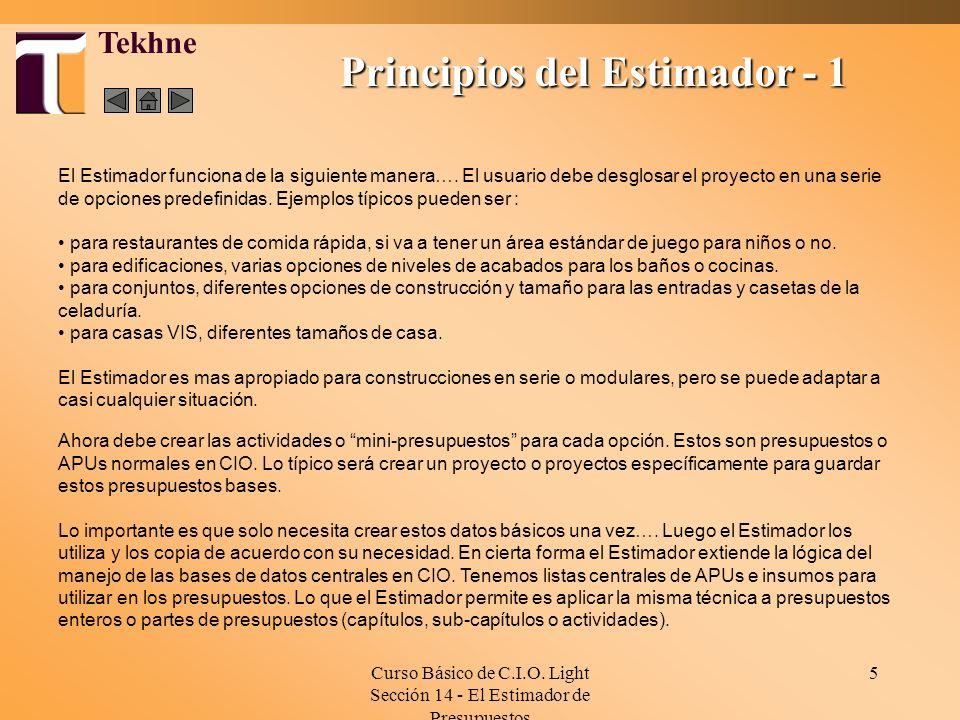 Principios del Estimador - 1