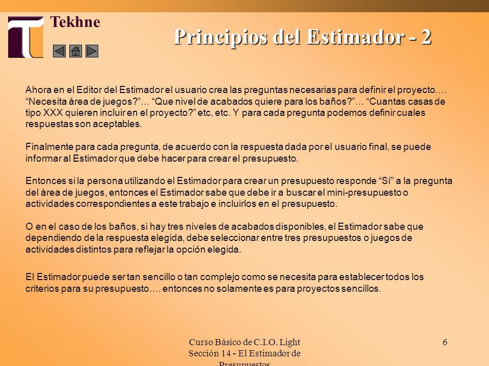 Principios del Estimador - 2