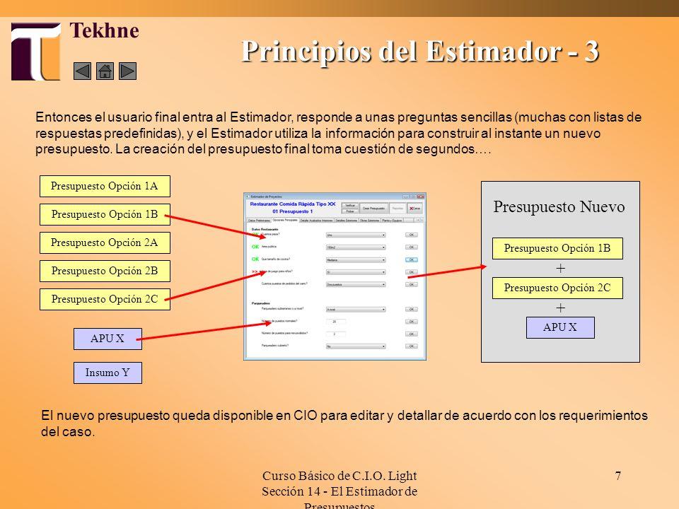 Principios del Estimador - 3