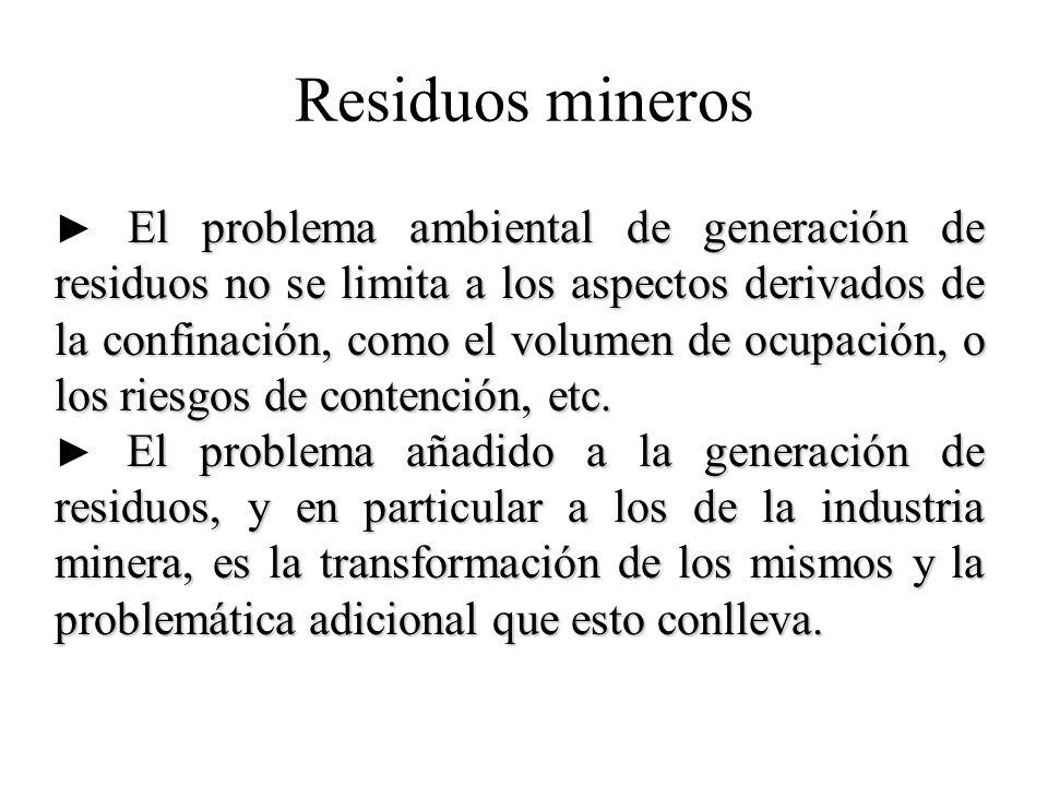 Residuos mineros