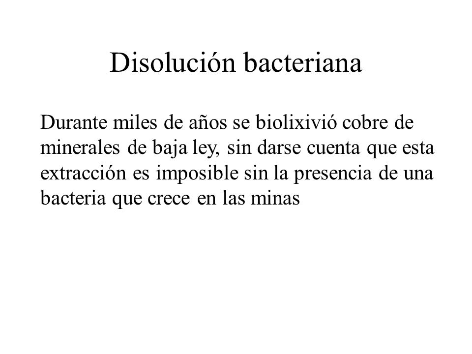 Disolución bacteriana
