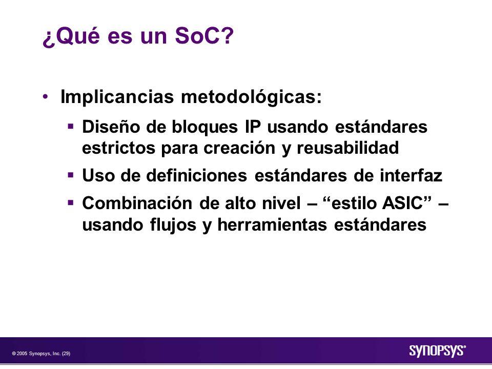 ¿Qué es un SoC Implicancias metodológicas: