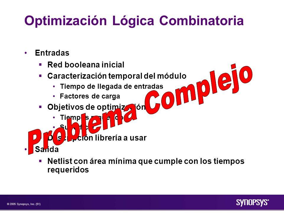 Optimización Lógica Combinatoria