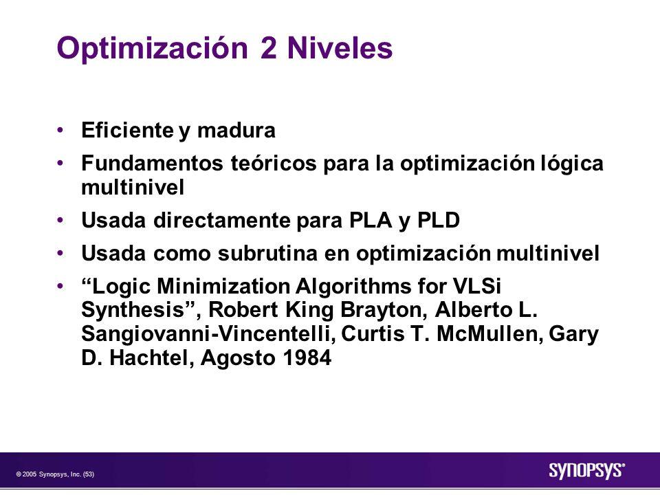 Optimización 2 Niveles Eficiente y madura