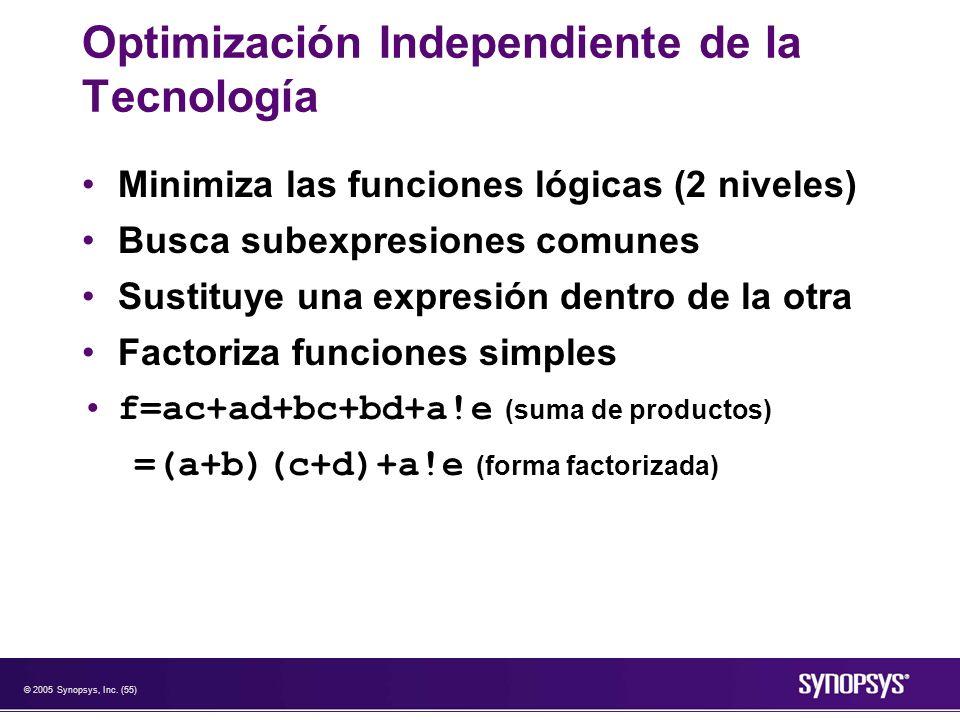 Optimización Independiente de la Tecnología