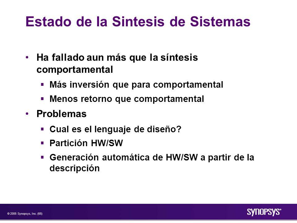 Estado de la Sintesis de Sistemas