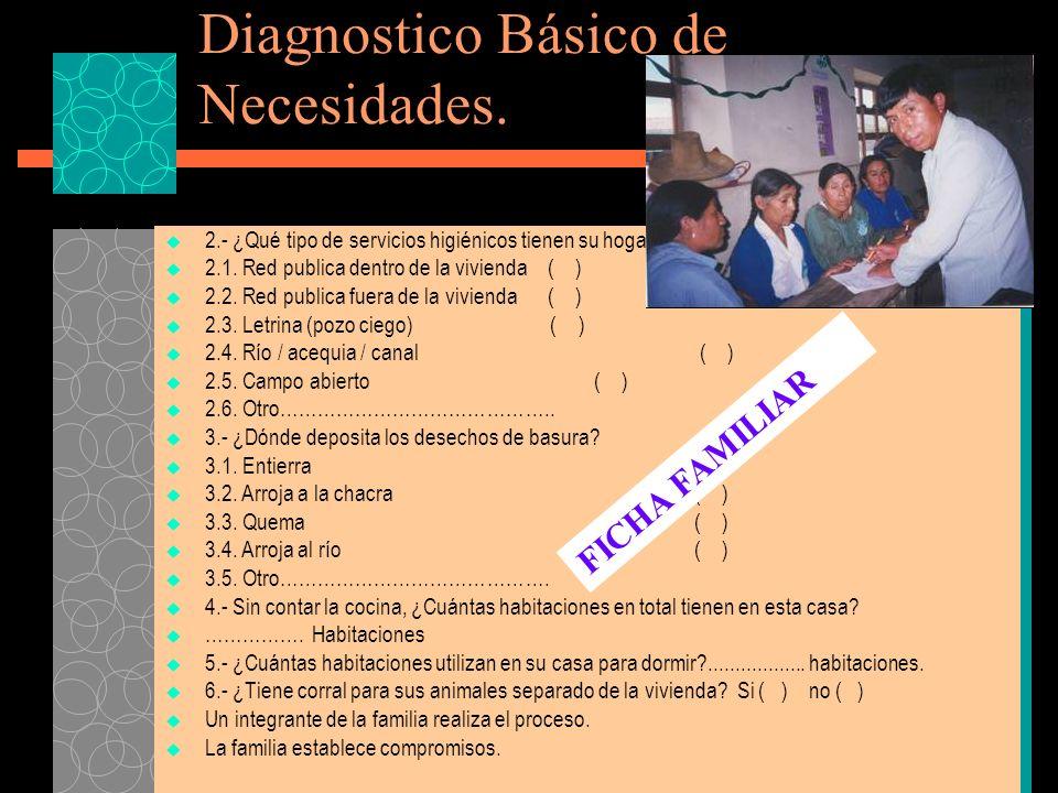 Diagnostico Básico de Necesidades.