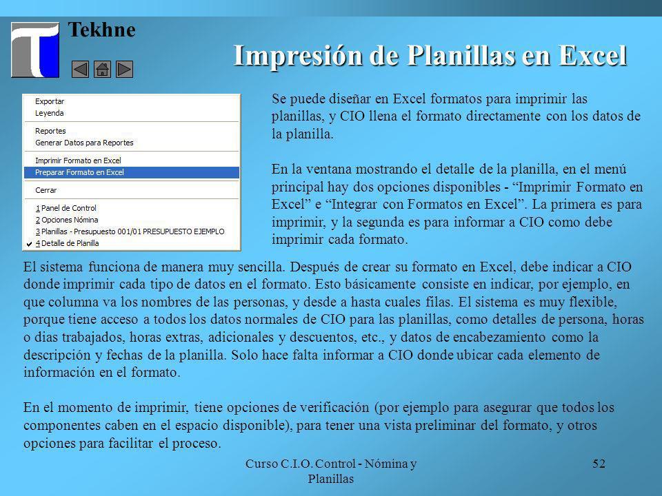 Impresión de Planillas en Excel