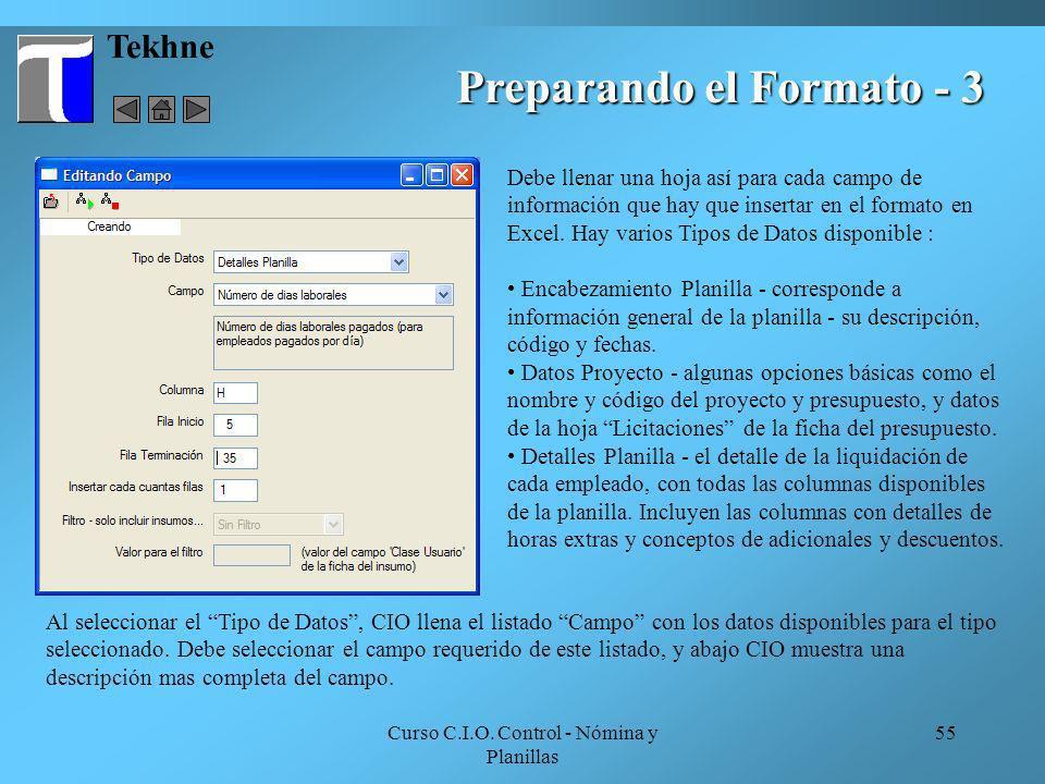 Preparando el Formato - 3
