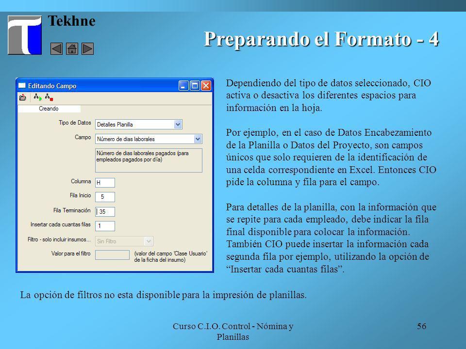 Preparando el Formato - 4