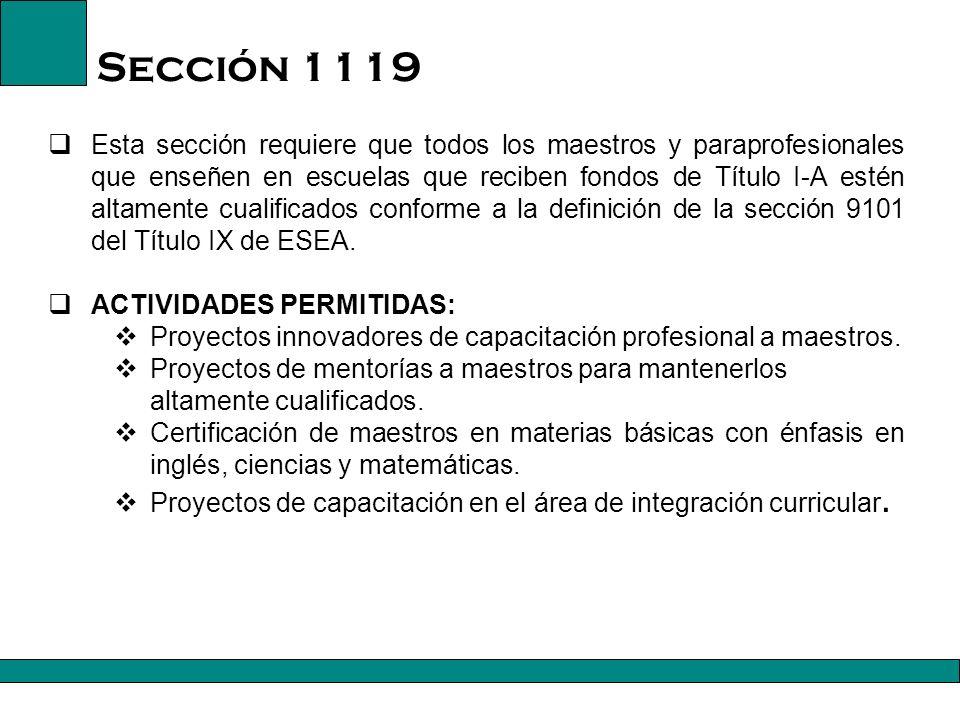 Sección 1119