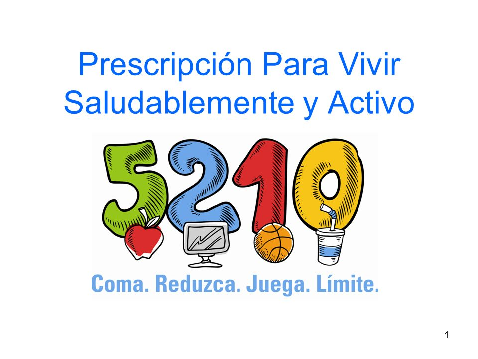 Prescripción Para Vivir Saludablemente y Activo