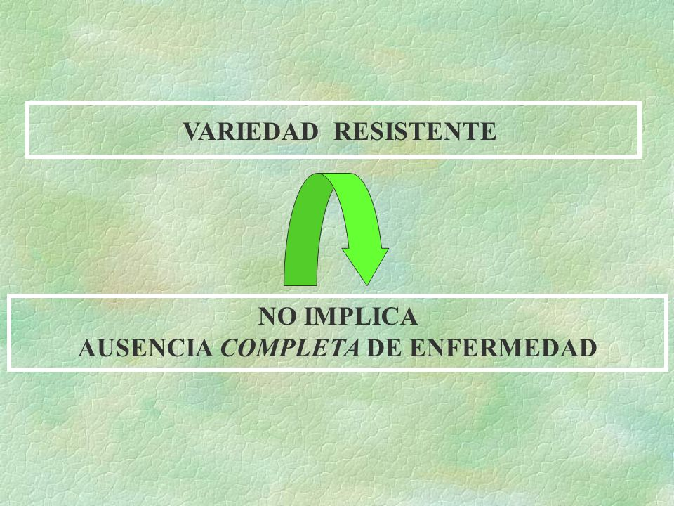 AUSENCIA COMPLETA DE ENFERMEDAD
