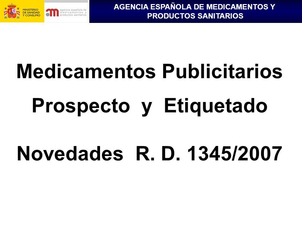 Medicamentos Publicitarios Prospecto y Etiquetado
