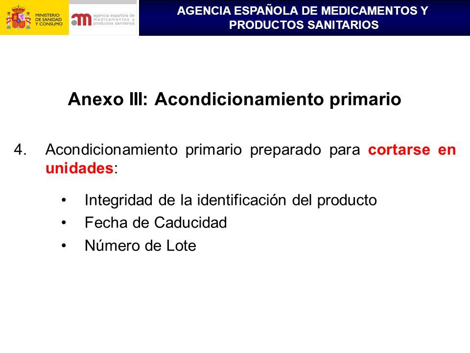 Anexo III: Acondicionamiento primario